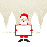 Santa Claus with a banner Royalty Free Stock Images