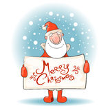 Santa Claus with a banner. Stock Image
