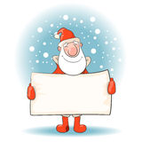 Santa Claus with a banner. Royalty Free Stock Image
