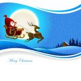 Santa Claus Banner Image stock