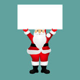 Santa Claus with a banner Royalty Free Stock Photo