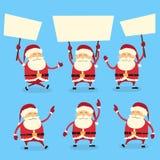Santa Claus Banner, blanc blanc de panneau de signe vide illustration de vecteur