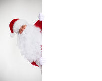 Santa Claus with banner. Stock Image