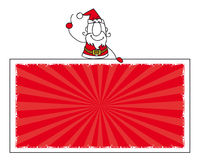 Santa claus and the banner. Santa claus with a horizontal banner for your message Stock Photography