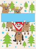 Santa Claus Banner Stock Photography