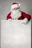 Santa Claus with banner Stock Photos