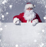 Santa Claus with banner Royalty Free Stock Photography