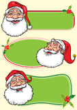 Santa Claus banners - Illustration. Santa Claus green banners with holly.Hand drawing illustration.Additional format vector format EPS8 Stock Images
