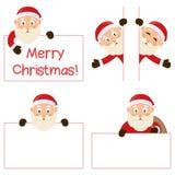 Santa Claus and Banners Set Royalty Free Stock Photo