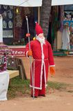 Santa Claus on the beach in Kovalam Stock Image