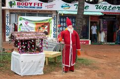 Santa Claus on the beach in Kovalam Stock Photography