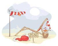 Santa Claus Beach Vacation Immagini Stock Libere da Diritti