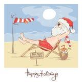 Santa Claus Beach Vacation illustration de vecteur