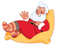 Santa Claus on the Bean Bag Stock Photo