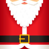 Santa Claus beard belt greeting card template flat  Royalty Free Stock Images