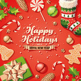 Santa Claus Beard Card Imagens de Stock
