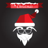 Santa claus with beard, mustache and glasses Stock Photos