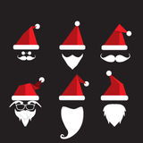 Santa claus with beard and mustache Stock Photos