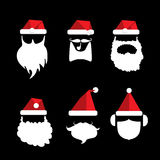 Santa claus with beard and mustache Royalty Free Stock Photo