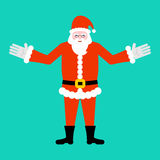 Santa Claus . Beard and mustache. Xmas template. Red Hat Stock Photography