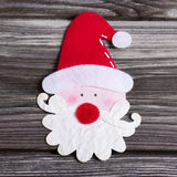 Santa Claus beared with red hat for decoration. Royalty Free Stock Images