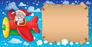 Santa Claus in beeld 7 van het vliegtuigthema Royalty-vrije Stock Fotografie