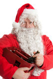 Santa Claus with beer Stock Image