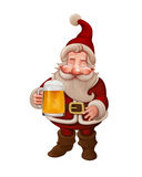 Santa Claus Beer Immagine Stock