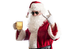Santa Claus with beer stock photos