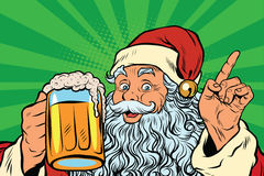 Santa Claus with beer Royalty Free Stock Photography