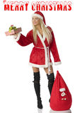 Santa claus with beg Royalty Free Stock Image