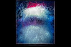 Santa Claus behind the glass Stock Photo