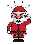 Santa Claus being angry Stock Photo