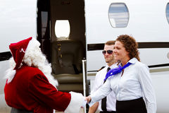 Santa Claus being greeted Royalty Free Stock Photos