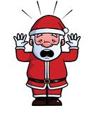 Santa Claus being shocked Royalty Free Stock Images
