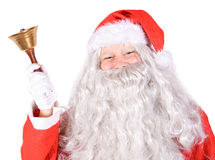 Santa Claus with bell Stock Images