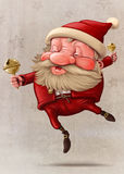 Santa Claus and the bell's dancing Stock Images