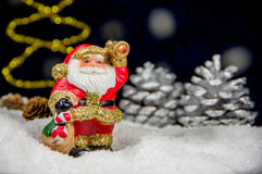 Santa Claus with bell on snow. The symbol of the Christmas and New Year Stock Image