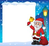 Santa Claus with bell theme frame 2. Eps10 vector illustration Royalty Free Stock Images
