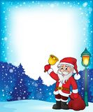Santa Claus with bell theme frame 1. Eps10 vector illustration Stock Photo