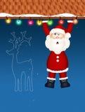 Santa Claus-Bergsteiger stock abbildung