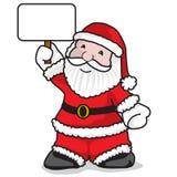 Santa Claus-bericht stock afbeeldingen