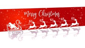 Santa Claus bianca volante con le renne illustrazione vettoriale