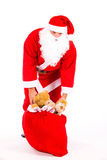 Santa Claus with a big bag Stock Photos