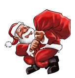Santa Claus with a big bag Royalty Free Stock Photo