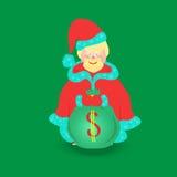 Santa Claus with Big Bag,  Royalty Free Stock Images