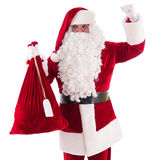 Santa Claus with big bag Royalty Free Stock Photo