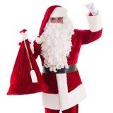 Santa Claus with big bag Royalty Free Stock Photo