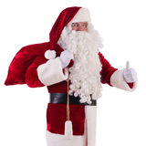Santa Claus with big bag Royalty Free Stock Images