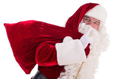 Santa Claus with big bag Royalty Free Stock Photos